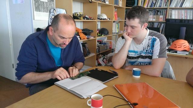 Christophe et Tristan (co-fondateur d'iskn) en pleine réunion